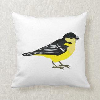 Lovely Lesser Goldfinch Throw Pillow