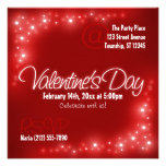 Lovely Lights - Red Valentine's Day Invitations