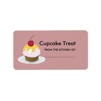 Lovely Lil Treat Sweet Cupcake Label