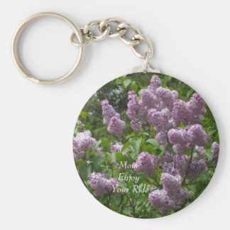 Lovely Lilac Bush Basic Round Button Keychain
