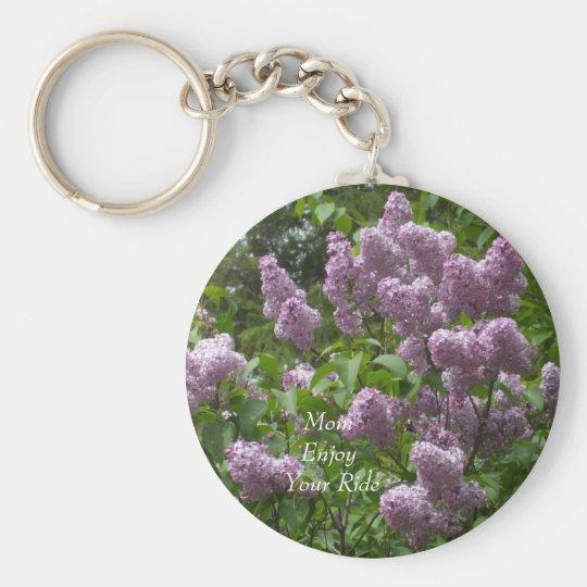 Lovely Lilac Bush Basic Round Button Keychain