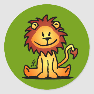 Lovely Lion Classic Round Sticker