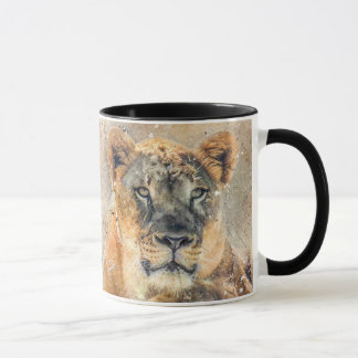 Lovely Lioness Photography Modern Watercolor Mug