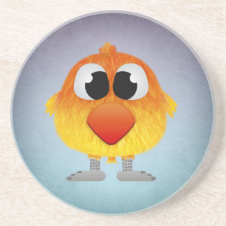 Lovely Little Orange And Yellow Bird Beverage Coaster
