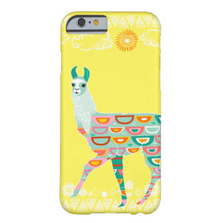 Lovely Llama - Green Barely There iPhone 6 Case