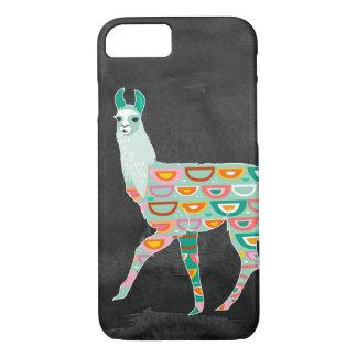 Lovely Llama on Dark Grey Watercolor iPhone 8/7 Case