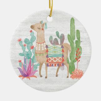 Lovely Llamas IV Ceramic Ornament