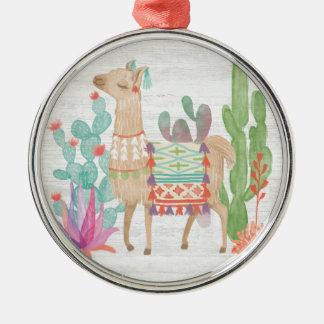 Lovely Llamas IV Metal Ornament