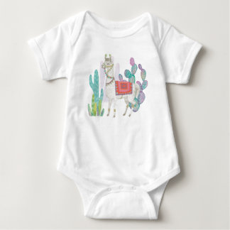 Lovely Llamas V Baby Bodysuit