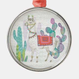 Lovely Llamas V Metal Ornament