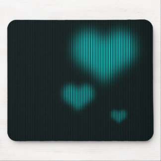 Lovely Love (Cyan) Mouse Pad