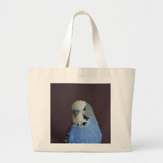 Lovely Macro Budgie Bird Large Tote Bag