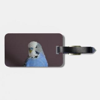Lovely Macro Budgie Bird Luggage Tag