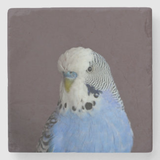 Lovely Macro Budgie Bird Stone Beverage Coaster