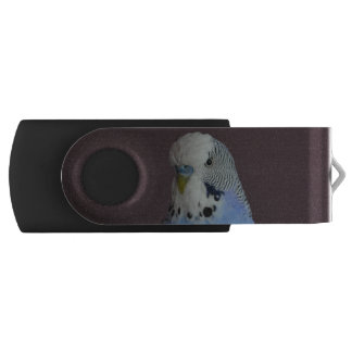 Lovely Macro Budgie Bird Swivel USB 2.0 Flash Drive