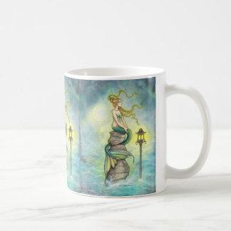 Lovely Mermaid with Moon and Lantern Coffee Mug