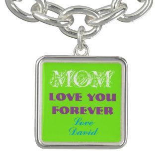 Lovely Monogram Charm Bracelet For Mom