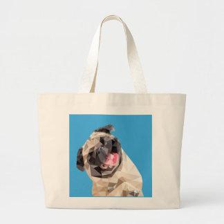 Lovely mops dog large tote bag