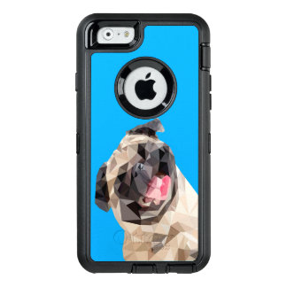 Lovely mops dog OtterBox defender iPhone case