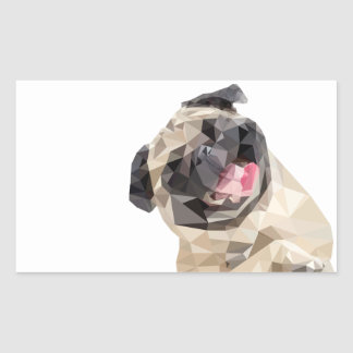 Lovely mops dog sticker