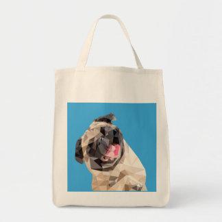 Lovely mops dog tote bag