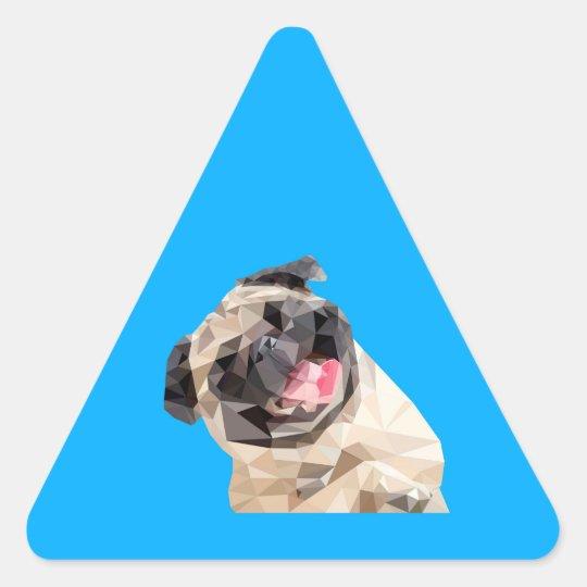 Lovely mops dog triangle sticker