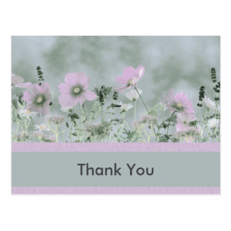 Lovely Muted Wildflowers Postcard