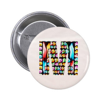 Lovely Name Initial M MM MMM n Let the World KNOW 2 Inch Round Button