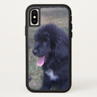 Lovely Newfie puppy (Newfoundland dog breed) iPhone X Case