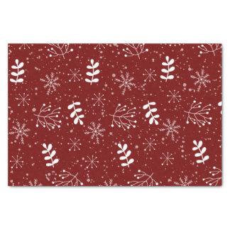 Lovely Organic Patttern Christmas Holiday Tissue Paper