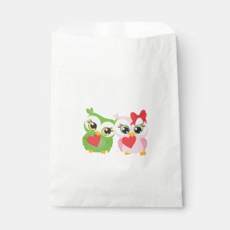Lovely Owls Love Hearts Favour Bag