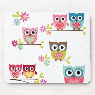 Lovely Owls Mousepad