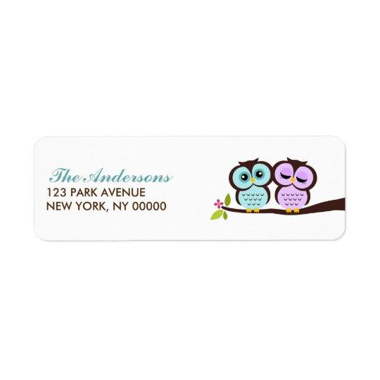 Lovely Owls Return Address Labels