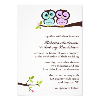 Lovely Owls Wedding Invites
