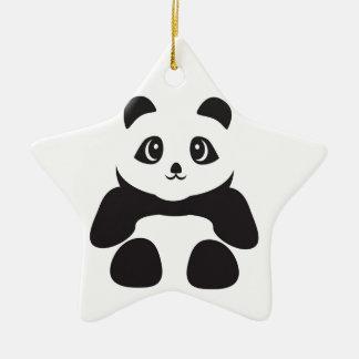 Lovely Panda bear Ceramic Ornament