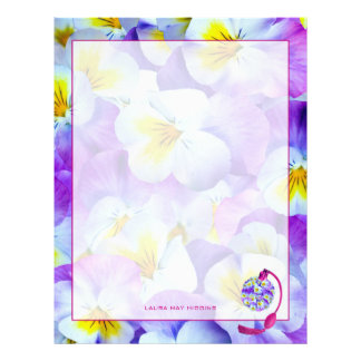 Lovely Pansy Atomizer Letterhead
