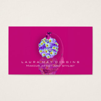 Lovely Pansy Atomizer Makeup and Stylist Business Card