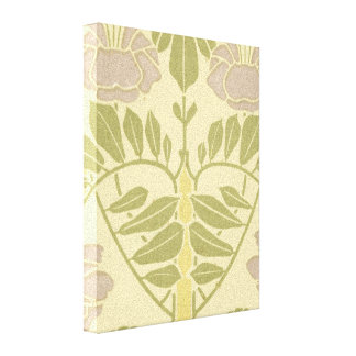 lovely pastel art nouveau floral design canvas print