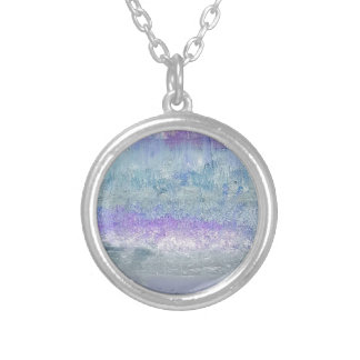 Lovely Pastel Invert Customizable Chic Design Silver Plated Necklace
