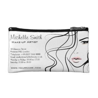 Lovely pastel make up artist  branding makeup bag