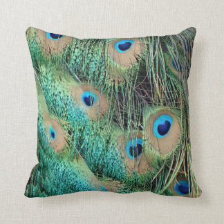 Lovely Peacock Feathers With New Grouch Throw Pillow