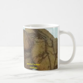 Lovely peanut butter cookies cup classic white coffee mug
