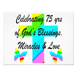 LOVELY PERSONALIZED 75TH BIRTHDAY DESIGN PHOTO ART
