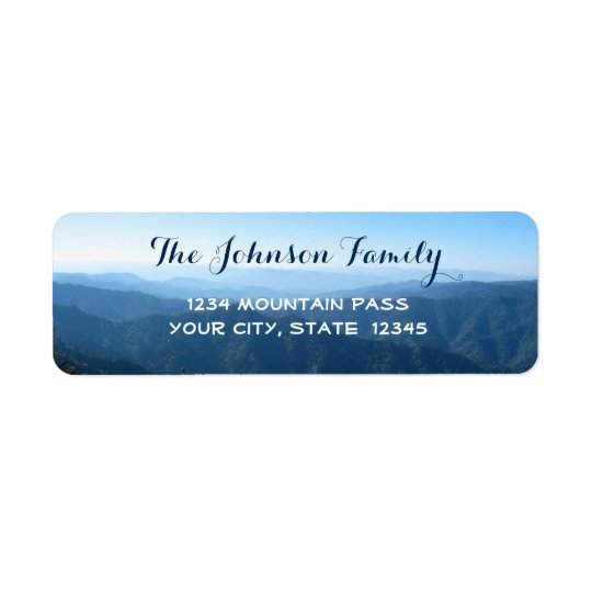 Lovely Personalized Template with blue Mountains