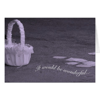 Lovely Petals and Basket Flower Girl Request Card