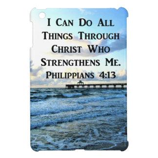 LOVELY PHILIPPIANS 4:13 BIBLE VERSE iPad MINI CASES