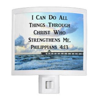 LOVELY PHILIPPIANS 4:13 BIBLE VERSE NIGHT LIGHTS