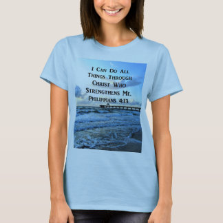 LOVELY PHILIPPIANS 4:13 BIBLE VERSE T-Shirt