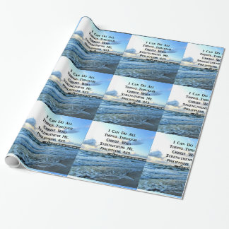 LOVELY PHILIPPIANS 4:13 BIBLE VERSE WRAPPING PAPER