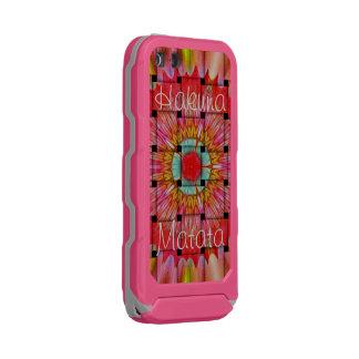 Lovely Pink Grey Hakuna Matata Incipio ATLAS ID™ iPhone 5 Case